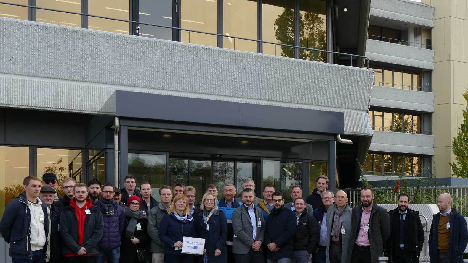 Participants of the COMBINE study trip at the Ludwigshafen site